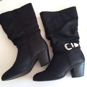 WESTERN Slouchy Boots Wide Width Calf Size…